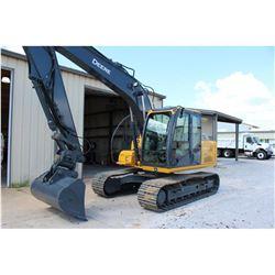 2012 JOHN DEERE 120D Hydraulic Excavator; VIN/SN:37599 -:- 10' stick, 60'' clean-out bucket, wrist-a