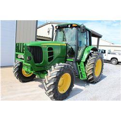 2011 JOHN DEERE 7230 Farm Tractor; VIN/SN:665144 -:- MFWD, 3 remotes, cab, A/C, 18.4R34 rear tires,