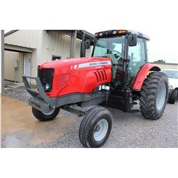 2012 MASSEY FERGUSON 5465 Farm Tractor; VIN/SN:C095074 -:- 3 remotes, cab, A/C, 18.4-34 rear tires,