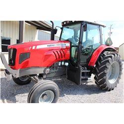 2012 MASSEY FERGUSON 5465 Farm Tractor; VIN/SN:C094049 -:- 3 remotes, cab, A/C, 18.4-34 rear tires,