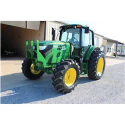 2013 JOHN DEERE 6125M Farm Tractor; VIN/SN:759620 -:- MFWD, 3 remotes, cab, A/C, 18.4R34 rear tires,