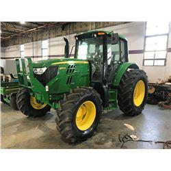 2013 JOHN DEERE 6125M Farm Tractor; VIN/SN:768674 -:- MFWD, 3 remotes, cab, A/C, 18.4R34 rear tires,
