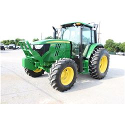 2013 JOHN DEERE 6125M Farm Tractor; VIN/SN:757357 -:- MFWD, 3 remotes, cab, A/C, 18.4R34 rear tires,