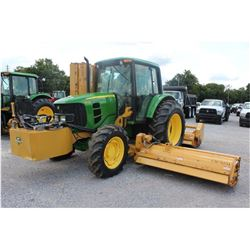 2011 JOHN DEERE 6330 Farm Tractor; VIN/SN:664580 -:- MFWD, 2 remotes, cab, A/C, Diamond flail mower