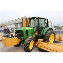 2011 JOHN DEERE 6330 Farm Tractor; VIN/SN:664589 -:- MFWD, 2 remotes, cab, A/C, Diamond flail mower