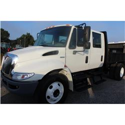 2011 INTERNATIONAL 4300 Flatbed Dump Truck; VIN/SN:1HTJTSKL0BH344899 -:- S/A, crew cab, Int. diesel,
