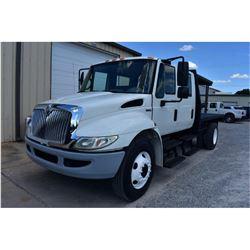 2008 INTERNATIONAL 4300 Flatbed Dump Truck; VIN/SN:1HTJTSKL18H567803 -:- S/A, crew cab, Int. diesel,