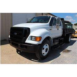 2009 FORD F750 Flatbed Dump Truck; VIN/SN:3FRNW75D49V120318 -:- S/A, crew cab, Cummins diesel, A/T,