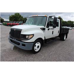 2013 INTERNATIONAL TERRASTAR Flatbed Truck; VIN/SN:1HTJSSKK4DH195605 -:- S/A, crew cab, Int. diesel,