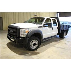 2012 FORD F450 Flatbed Truck; VIN/SN:1FD0W4GY1CEC70391 -:- crew cab, V10 gas, A/T, AC, 9' flatbed bo
