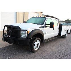 2014 FORD F550 Service Truck; VIN/SN:1FD0W5HT8EEA23073 -:- 4x4, crew cab, PowerStroke diesel, A/T, A