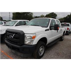 2015 FORD F250 Pickup Truck; VIN/SN:1FT7W2B62FEA88703 -:- 4x4, crew cab, V8 gas, A/T, AC, 74,554 mil