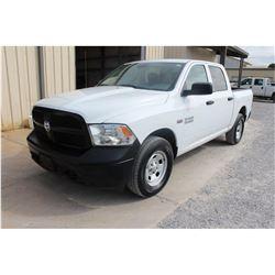 2015 DODGE 1500 Pickup Truck; VIN/SN:3C6RR7KT6FG626452 -:- 4x4, crew cab, V8 gas, A/T, AC, 67,024 mi