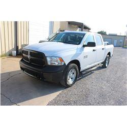 2015 DODGE 1500 Pickup Truck; VIN/SN:1C6RR7KG4FS738453 -:- 4x4, crew cab, V6 gas, A/T, AC, 68,369 mi