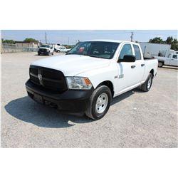 2015 DODGE 1500 Pickup Truck; VIN/SN:1C6RR7FT1FS765343 -:- 4x4, ext. cab, V8 gas, A/T, AC, 54,936 mi