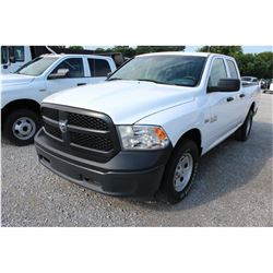 2015 DODGE 1500 Pickup Truck; VIN/SN:1C6RR7FT6FS765340 -:- 4x4, ext. cab, V8 gas, A/T, AC, 68,662 mi