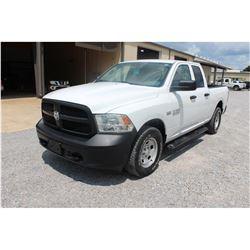 2015 DODGE 1500 Pickup Truck; VIN/SN:1C6RR7FT6FS765337 -:- 4x4, ext. cab, V8 gas, A/T, AC, 73,925 mi