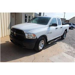 2015 DODGE 1500 Pickup Truck; VIN/SN:1C6RR7FT8FS765338 -:- 4x4, ext. cab, V8 gas, A/T, AC, 79,086 mi