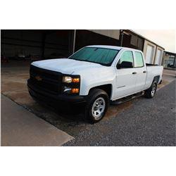 2015 CHEVROLET 1500 Pickup Truck; VIN/SN:1GCRCPEC3FZ208811 -:- ext. cab, V8 gas, A/T, AC, 54,487 mil