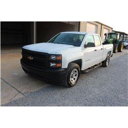2015 CHEVROLET 1500 Pickup Truck; VIN/SN:1GCRCPEC7FZ212893 -:- ext. cab, V8 gas, A/T, AC, 57,307 mil