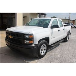 2015 CHEVROLET 1500 Pickup Truck; VIN/SN:1GCRCPEC7FZ206589 -:- ext. cab, V8 gas, A/T, AC, 60,470 mil