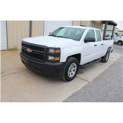 2015 CHEVROLET 1500 Pickup Truck; VIN/SN:1GCRCPEC3FZ206881 -:- ext. cab, V8 gas, A/T, AC, 69,986 mil