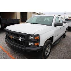 2015 CHEVROLET 1500 Pickup Truck; VIN/SN:1GCRCPEC7FZ215213 -:- ext. cab, V8 gas, A/T, AC, 75,037 mil