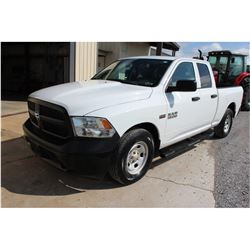 2015 DODGE 1500 Pickup Truck; VIN/SN:1C6RR6FTXFS742167 -:- ext. cab, V8 gas, A/T, AC, 45,930 miles