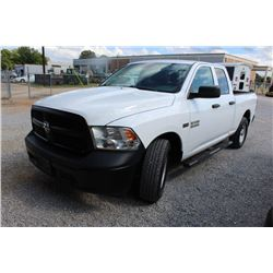 2015 DODGE 1500 Pickup Truck; VIN/SN:1C6RR6FTXFS761639 -:- ext. cab, V8 gas, A/T, AC, 60,703 miles