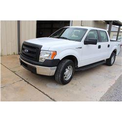 2014 FORD F150 Pickup Truck; VIN/SN:1FTFW1EFXEKD69519 -:- 4x4, crew cab, V8 gas, A/T, AC, 60,745 mil