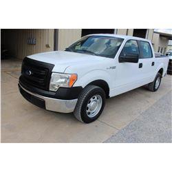 2014 FORD F150 Pickup Truck; VIN/SN:1FTFW1CF9EKE85801 -:- crew cab, V8 gas, A/T, AC, 51,477 miles