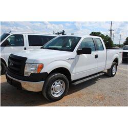 2014 FORD F150 Pickup Truck; VIN/SN:1FTEX1EM0EFA94906 -:- 4x4, ext. cab, V6 gas, A/T, AC, 64,642 mil