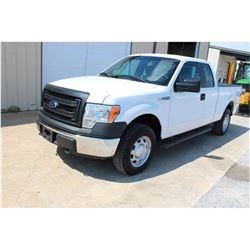2014 FORD F150 Pickup Truck; VIN/SN:1FTEX1EM2EFC18576 -:- 4x4, ext. cab, V6 gas, A/T, AC, 66,758 mil