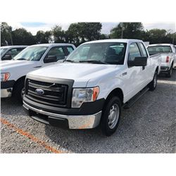 2014 FORD F150 Pickup Truck; VIN/SN:1FTEX1CM1EFA85327 -:- ext. cab, V6 gas, A/T, AC, 52,504 miles