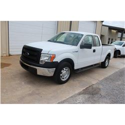 2014 FORD F150 Pickup Truck; VIN/SN:1FTEX1CM8EFC09626 -:- ext. cab, V6 gas, A/T, AC, 57,100 hours