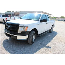 2014 FORD F150 Pickup Truck; VIN/SN:1FTEX1CMXEFA85309 -:- ext. cab, V6 gas, A/T, AC, 60,661 miles