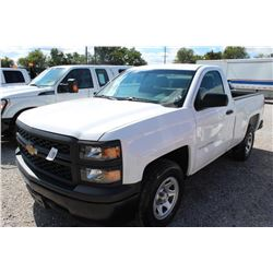 2014 CHEVROLET 1500 Pickup Truck; VIN/SN:1GCNCPEC3EZ340738 -:- V8 gas, A/T, AC, 50,730 miles