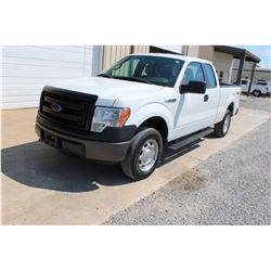 2013 FORD F150 Pickup Truck; VIN/SN:1FTEX1EM6DKD70303 -:- 4x4, ext. cab, V6 gas, A/T, AC, 57,082 mil