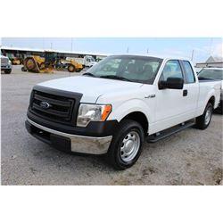 2013 FORD F150 Pickup Truck; VIN/SN:1FTEX1CM8DKE99694 -:- ext. cab, V6 gas, A/T, AC, 46,575 miles