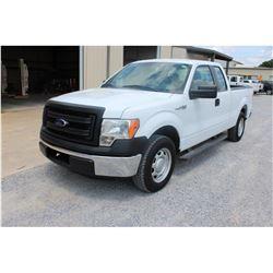 2013 FORD F150 Pickup Truck; VIN/SN:1FTEX1CM6DKE99709 -:- ext. cab, V6 gas, A/T, AC, 51,353 miles