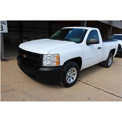 2011 CHEVROLET 1500 Pickup Truck; VIN/SN:1GCNCPEA1BZ323740 -:- V8 gas, A/T, AC, 34,891 miles