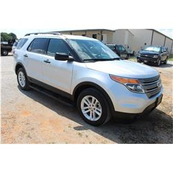 2015 FORD EXPLORER; VIN/SN:1FM5K8B87FGC08342 -:- 4x4, V6 gas, A/T, AC, 3rd row seating, 106,662 mile