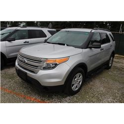 2014 FORD EXPLORER; VIN/SN:1FM5K8B86EGC26765 -:- 4x4, V6 gas, A/T, AC, 3rd row seating, 102,571 mile