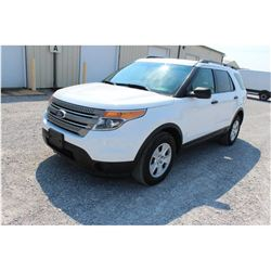 2013 FORD EXPLORER; VIN/SN:1FM5K8B82DGC96441 -:- 4x4, V6 gas, A/T, AC, 3rd row seating, 69,582 miles