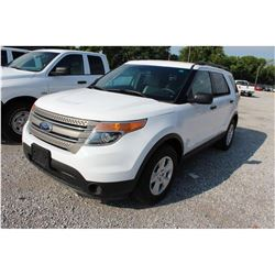 2013 FORD EXPLORER; VIN/SN:1FM5K8B80DGC45634 -:- 4x4, V6 gas, A/T, AC, 3rd row seating, 80,516 miles