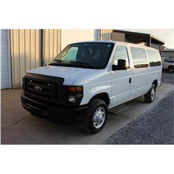 2014 FORD E350 Cargo Van; VIN/SN:1FBNE3BL9EDA71735 -:- V8 gas, A/T, AC, bed slide, 68,900 miles