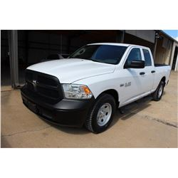 2015 DODGE 1500 Pickup Truck; VIN/SN:1C6RR6FT2FS742146 -:- ext. cab, V8 gas, A/T, AC, 62,874 miles