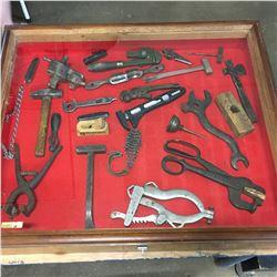 Vintage Tools in Store Display Case !