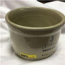 Medalta Potteries Redcliff, Alta Canada Crock 3