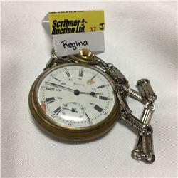 """Pocket Watch """"Regina"""" 24 Hour"""